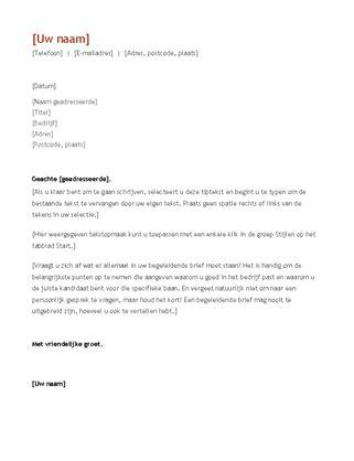 Chronologische Cv Sjabloon cv en begeleidende brief chronologisch office templates