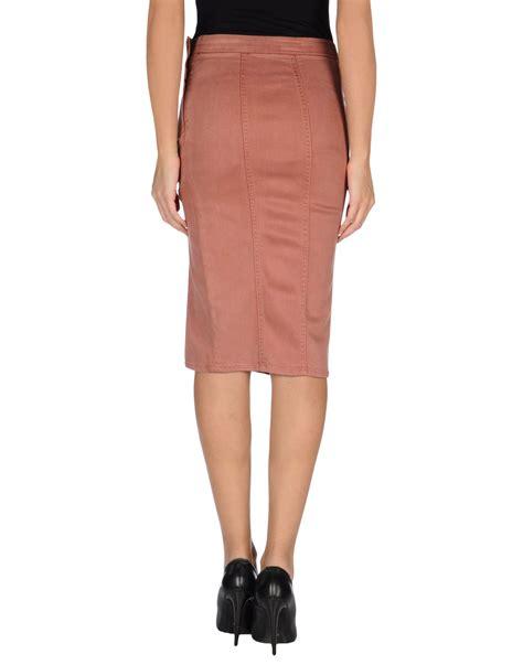 denim skirt in pink pastel pink lyst