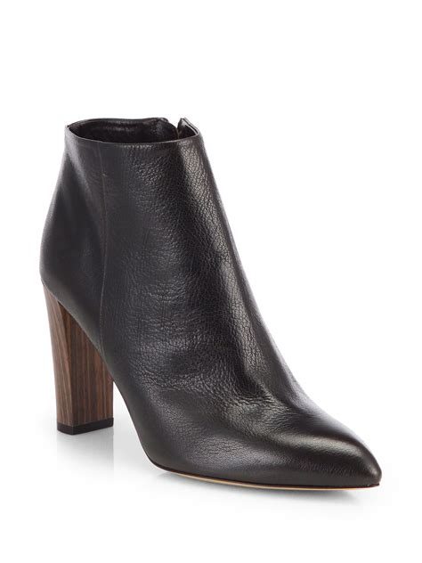 Kate Spade Lydia Leather Brown kate spade new york nita leather ankle boots in brown lyst