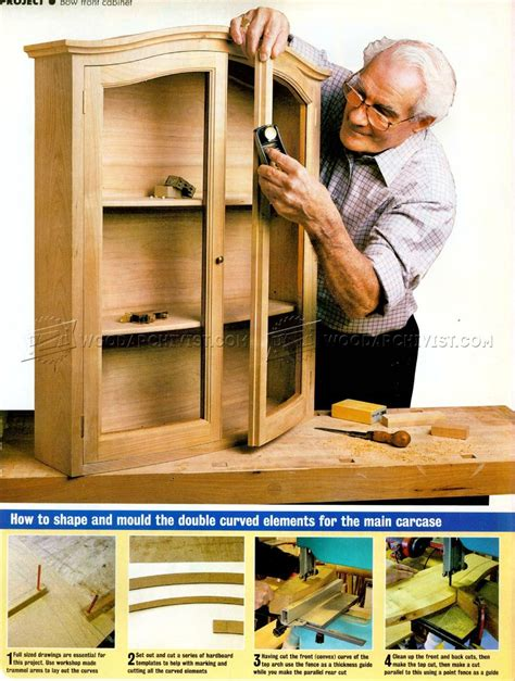 bow front dresser plans bow front cabinet plans woodarchivist