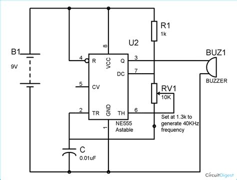circuit diagrams for electronic mosquito repellent circuit diagram using ic 555