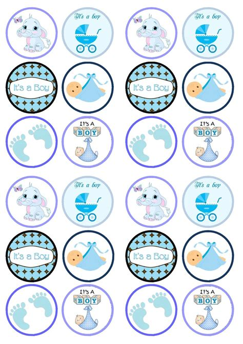 Cupcake Toppers For Baby Boy Shower by Cupcake Toppers Baby Shower Buscar Con Beb 233 Y