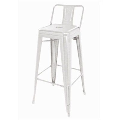 White Metal Bar Stools With Back by White Metal Bar Stool With Back White Bar