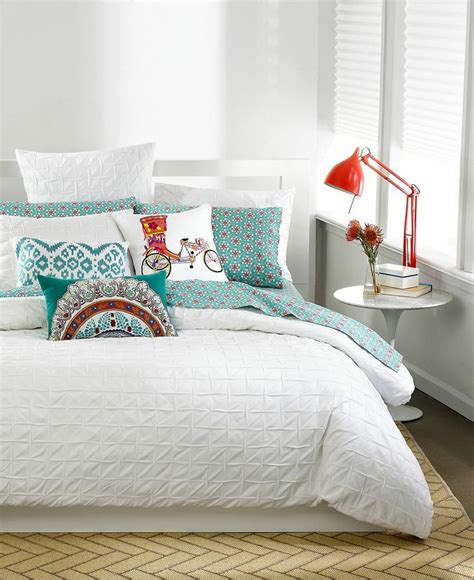 white bedding with accent pillows modern metal headboard with scandinavian teenage bedroom
