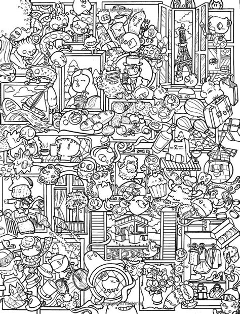 doodle coloring book 414 best doodle coloring pages images on