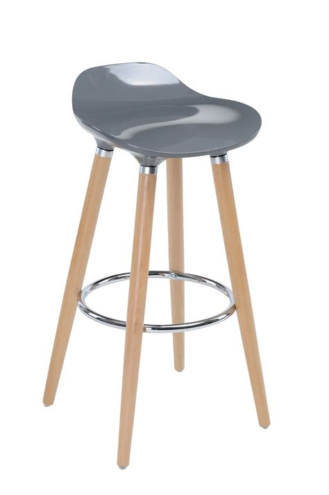 Tabouret De Bar Gris by Tabouret De Bar Avec Pieds En H 234 Tre Naturel Assise