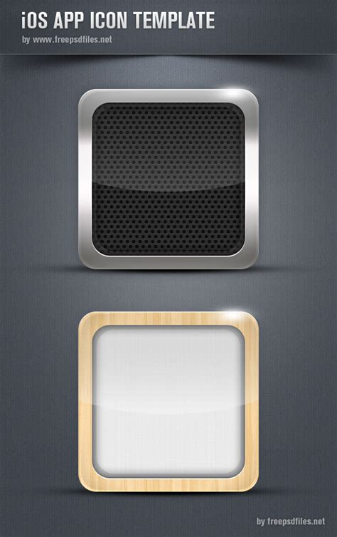 ios app icon template free psd files