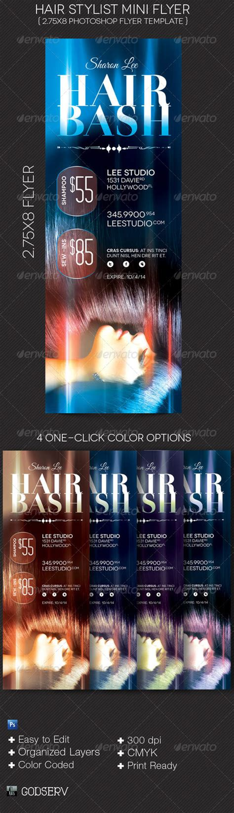 Mini Flyer Template Hair Stylist Mini Flyer Template By Godserv On Deviantart