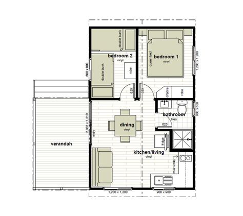 Cabins Floor Plans | cabin floor plans oxley anchorage caravan park