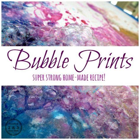 how to make colored bubbles mix recipe for activities craft and kid