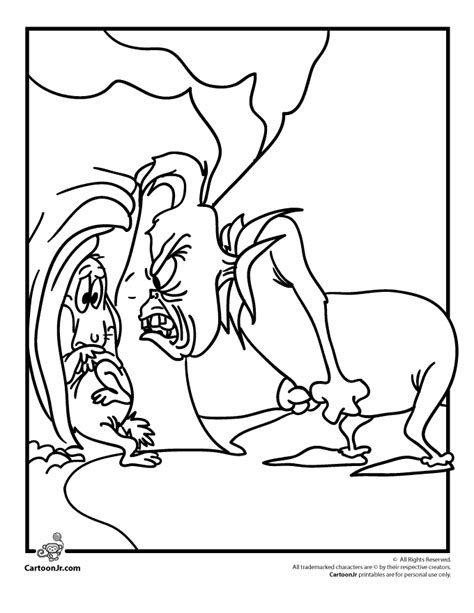 coloring pages grinch printable how the grinch stole christmas coloring pages coloring home