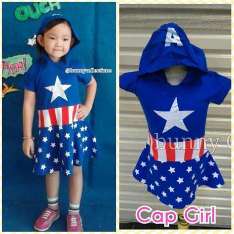 Dress Kostum Anak Perempuan Captain America 6 9 Tahun jual baju cewek baju captain 100 katun 2thn s d 6 7 thn bunny collection