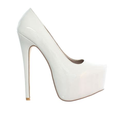 white stiletto high heels womens white patent high heel stiletto platform