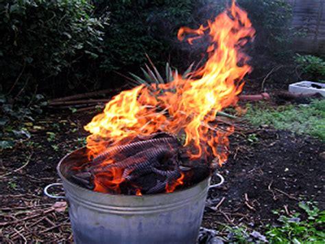 backyard burn backyard burning