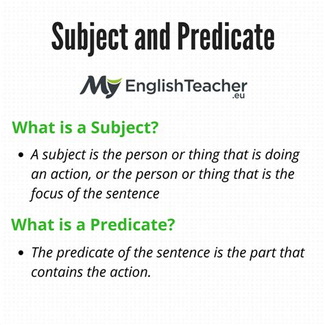 Subjects Objects And Predicates With Worksheet