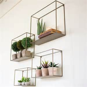 kalalou metal wall shelf set 4 nke1034