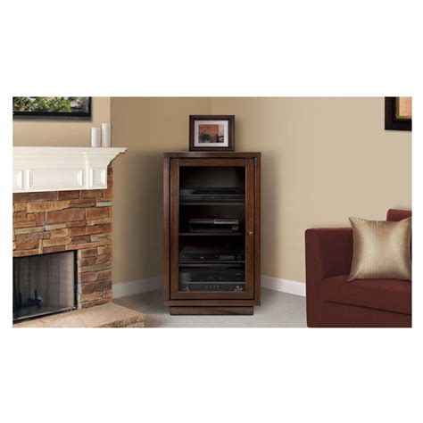 wood audio video cabinets bello no tools assembly wood audio video cabinet dark
