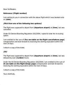 Cancellation Letter Of Flight Formal Request Letters
