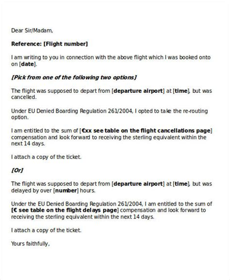 apology letter for cancellation of flight cancellation of flight booking letter 28 images