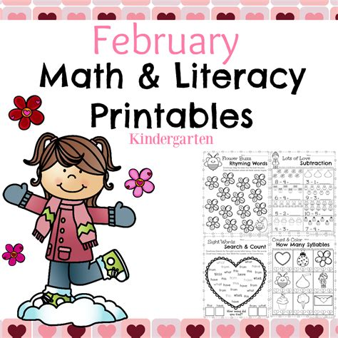 february themes in kindergarten magnificent february math worksheets images worksheet