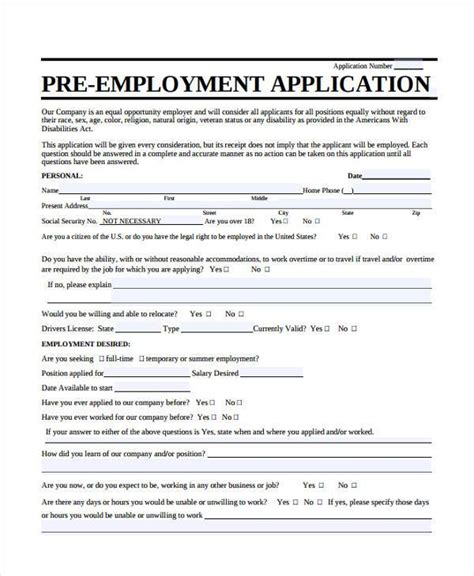 sle employment application biodata sle for job