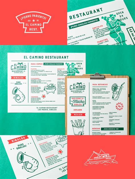 camino menu el camino on behance menu design 250 camino