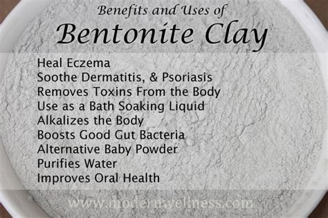 Benefits Of Bentonite Liquid Detox by 17 Best Images About Bentonite Clay On