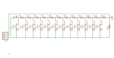 arduino resistor keyboard arduino compatible 3x4 analog keyboard for microcontroller