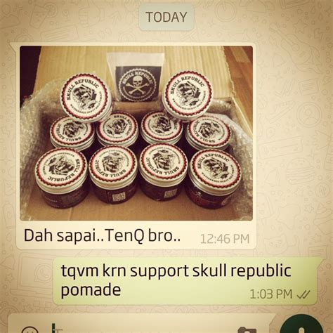 Pomade Skull Republic want to sell skull republic pomade waterbased heavy hold