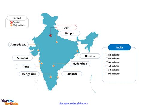 india map with cities india map blank templates free powerpoint templates
