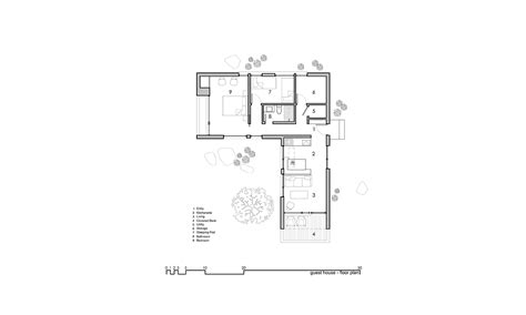 l shaped floor plans t shaped house plan with corten steel cladding in desert