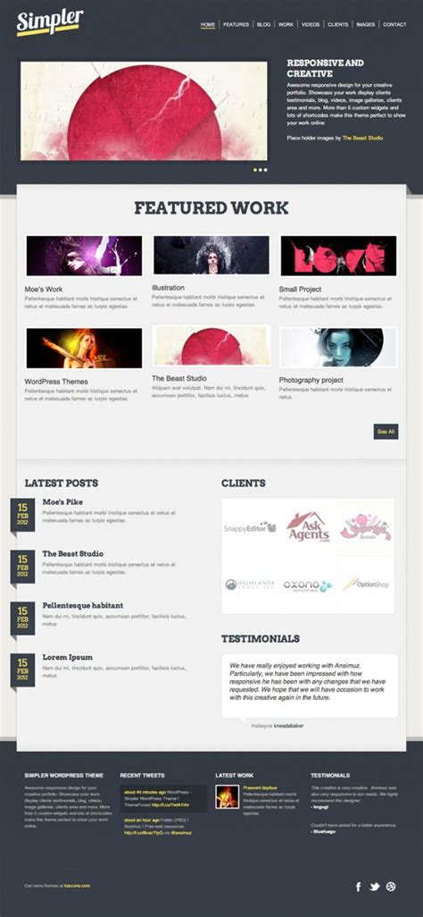 40 Free Professional Psd Website Templates For Download Free Photoshop Website Templates