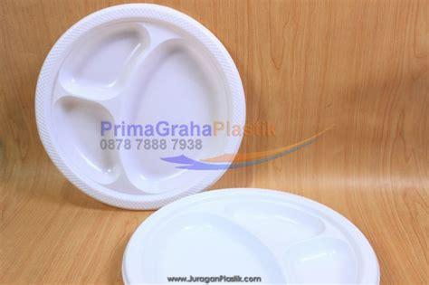 Mangkok Plastik Kecil Ukuran 5 Inch Warna Putih Isi 50 Pcs piring plastik datar 10 inch sekat 3 stock ready home