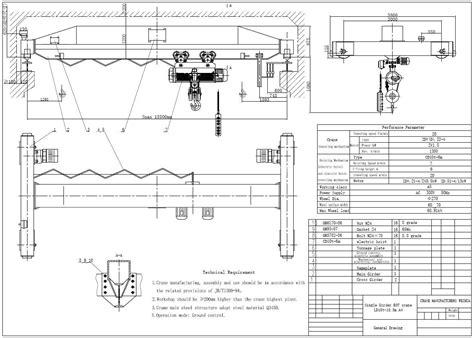electrical drawing of eot crane intergeorgia info