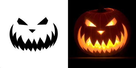 halloween scary pumpkin carving stencils