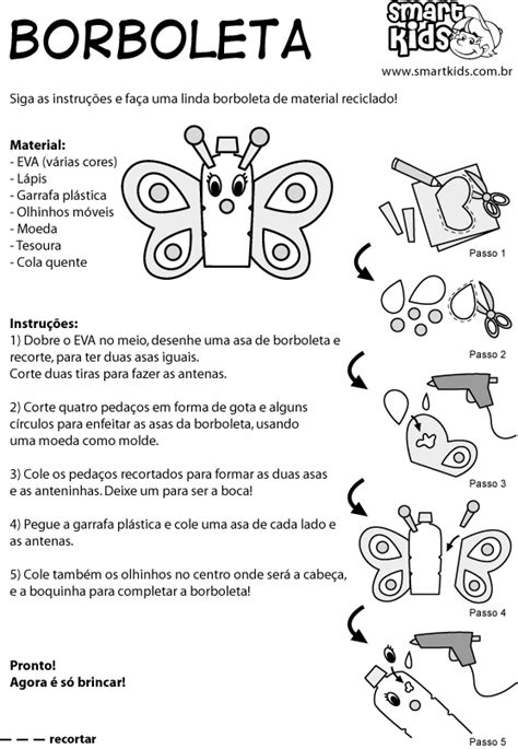 Atividade Brinquedos Reciclados Borboleta - Atividades