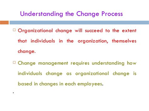 Mba Organizational Change Management by Change Process Ppt Bec Doms Mba Bagalkot Mba