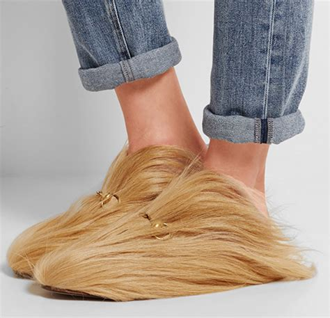 gucci designed these slippers to match trump's hair | so