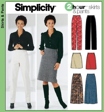 sandra jeans pattern review simplicity 5844 2 hour skirts pants