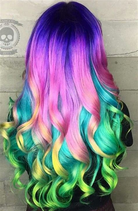 rainbow color hair ideas multi tone hair color ideas to use in 2016 haircuts