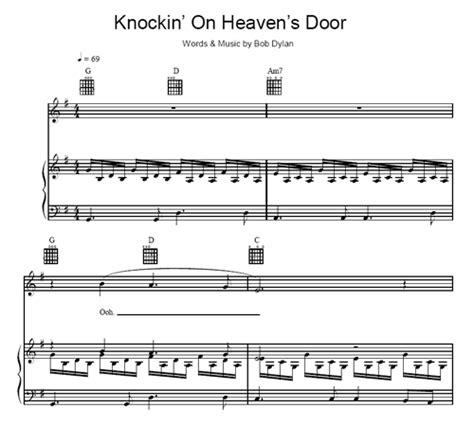 Knocking On Heaven S Door Bob by Knockin On Heaven S Door Bob Sheet