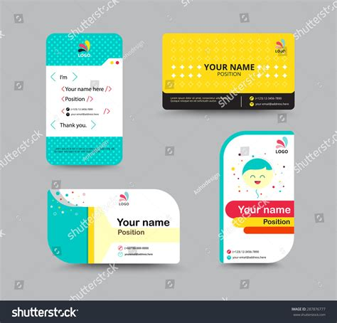 free name card design template contact card template business name card vectores en stock