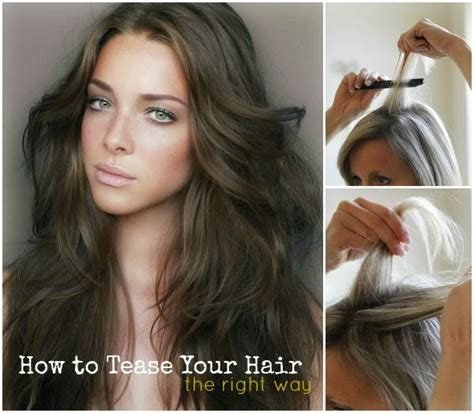 how to properly tease your hair makeupcom how to tease your hair hair makeup nails pinterest
