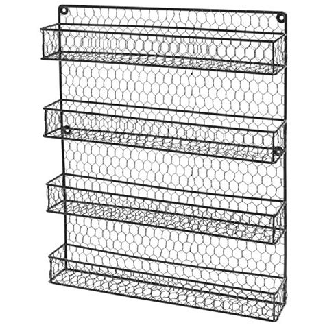 wire spice racks for cabinets 4 tier black country rustic chicken wire pantry cabinet