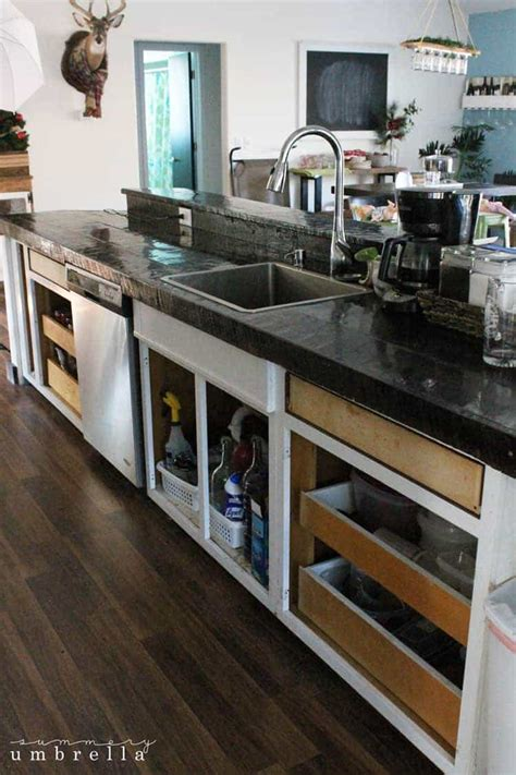 Our Kitchen Cabinet Makeover The Summery Umbrella Kitchen Cabinet Door Makeover