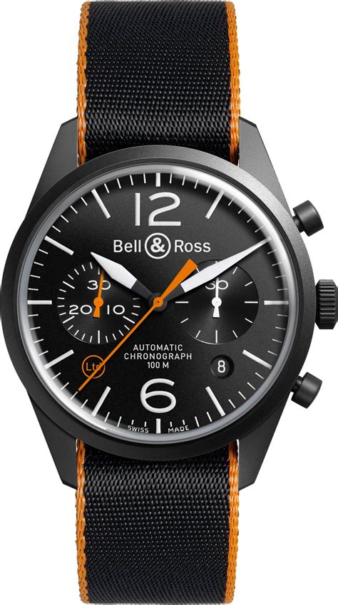 Bell Ross bell ross carbon orange blackbird limited edition