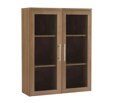 Walnut Bookcase With Glass Doors Calgary Book Cases