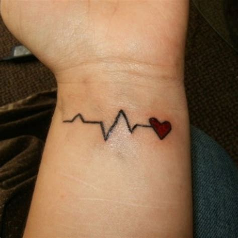 ekg tattoos 21 best ekg images on beat