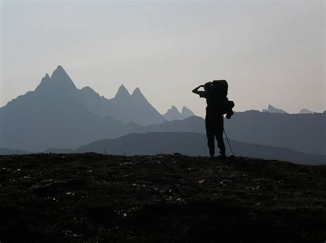 photo hiker mountains  person  image
