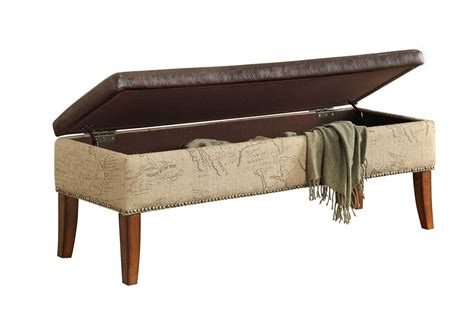 brown storage bench armen living antique brown storage bench lc5042otvb